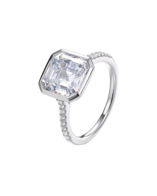 Lustre of London - Metallic Chloe Asscher Cut Ring - Lyst