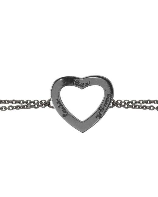 Ongkara - Black Rhodium Live Laugh Love Chain Bracelet - Lyst