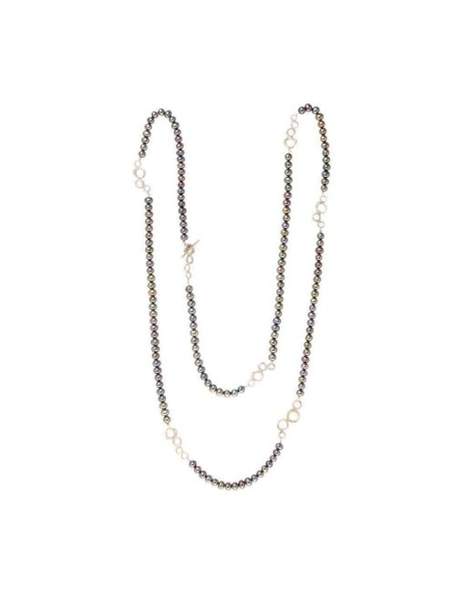 Erin Cox Jewellery - White O2 Bubble Link Wrap Necklace - Lyst