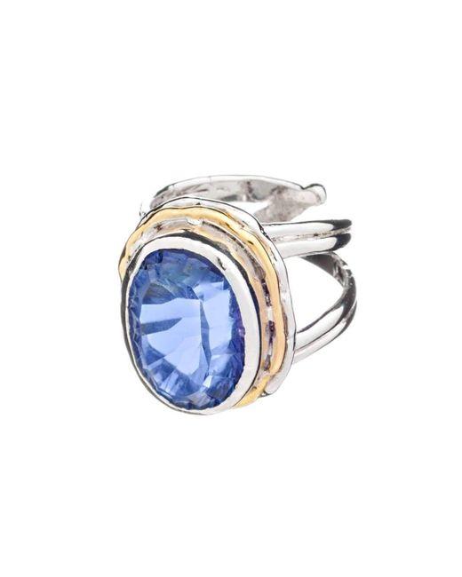 Gallardo and Blaine Designs - Magnolia Ring In Blue Quartz - Lyst