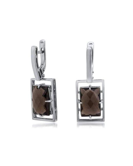 Drukker Designs | Metallic Sterling Silver Smoky Quartz Earrings | Lyst