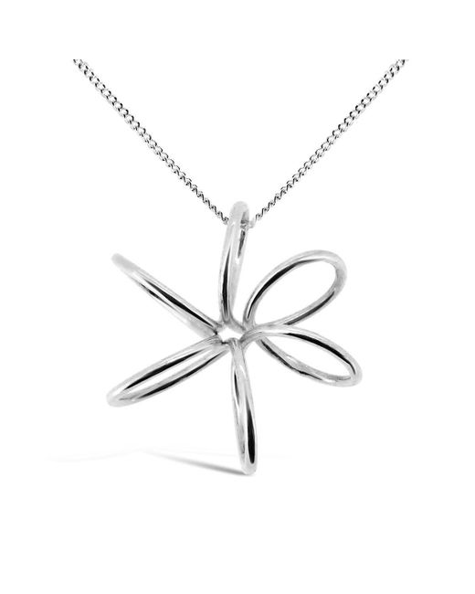 Maree London - Metallic Silver Orchid Pendant - Lyst