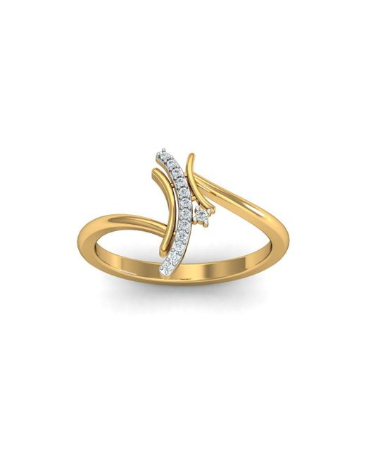 Diamoire Jewels - Metallic 18kt Yellow Gold Pave 0.07ct Diamond Infinity Ring Iii - Lyst