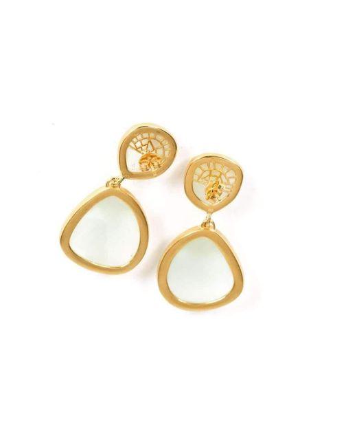 Neola Honeycomb Gold Drop Earrings OOdDy