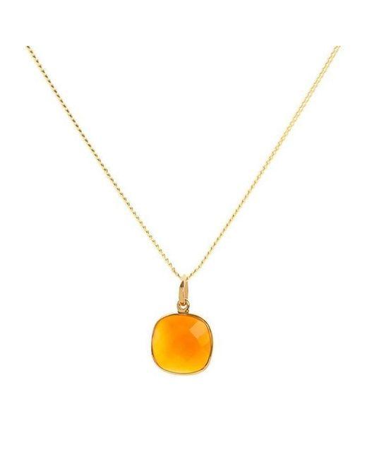 Elizabeth Raine - Metallic Carnelian 18kt Gold Vermeil Sacral Chakra Pendant Necklace - Lyst