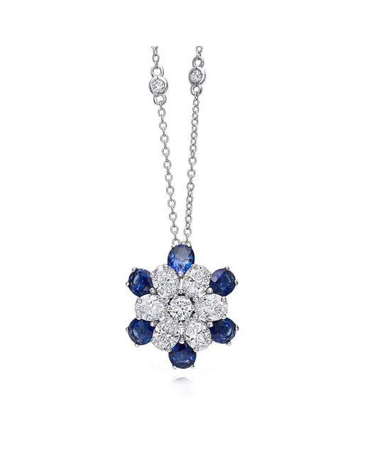 Pinomanna - Blue White Gold & Sapphire Mama Non M'ama Collection Necklace | - Lyst