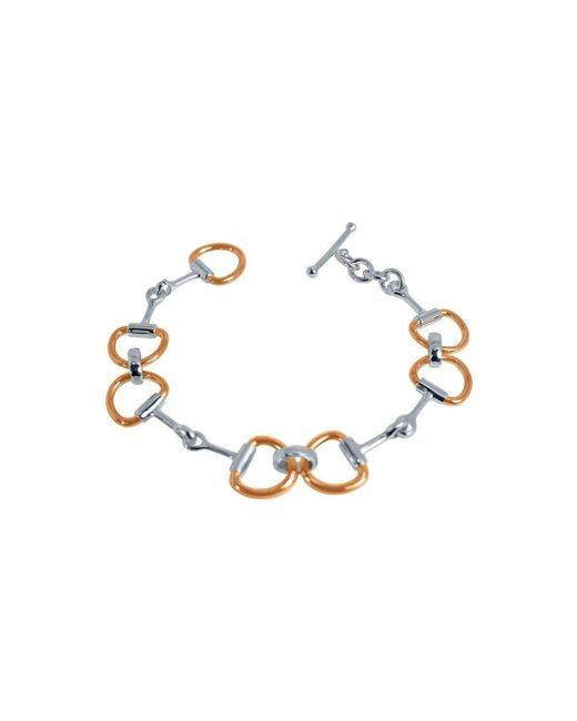 Pegasus Jewellery - Metallic Rose Snaffle Bracelet - Lyst