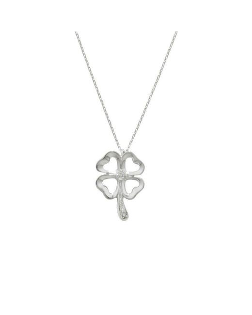 London Road Jewellery - Multicolor White Gold Diamond Enchanted Four Leaf Clover Pendant - Lyst