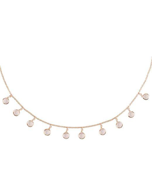Latelita London Florence Round Gemstone Necklace Rose Gold Amethyst 6UBcqr