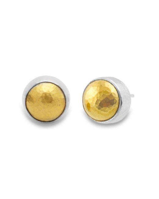 Gurhan - Metallic Amulet Round Stud Earrings - Lyst