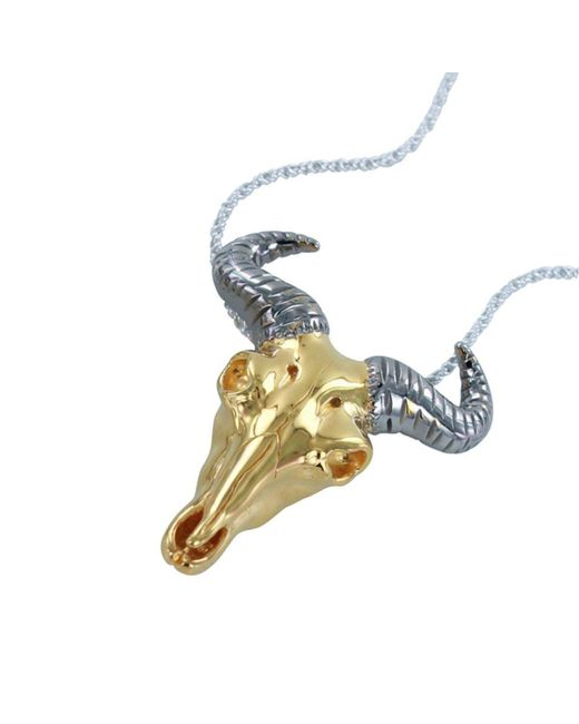 Reeves and Reeves - Metallic Wildebeest Yellow Gold Pendant Necklace - Lyst
