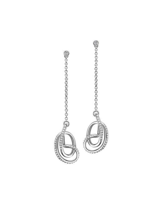 Fei Liu - Metallic Rhodium Plated Serenity Stud Drop Earrings - Lyst