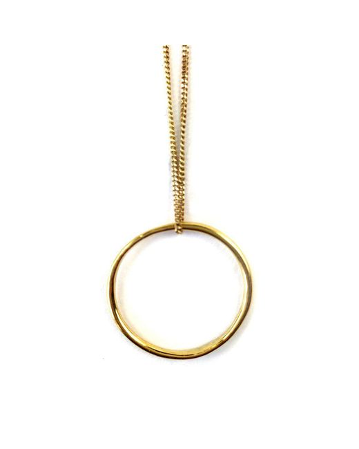 FRAN REGAN JEWELLERY - Metallic Pendant Vermeil Single Loop On Gold Chain - Lyst