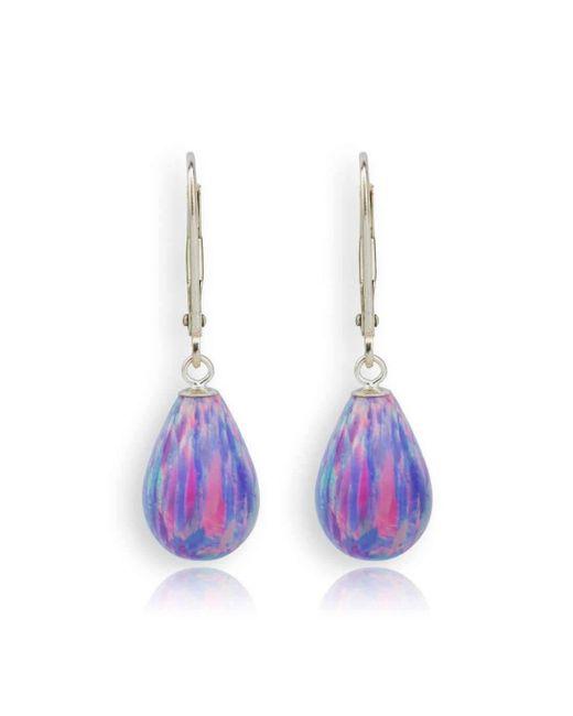 Lavan 9kt Gold & Pink Opal Teardrop Earrings M3jLSQy