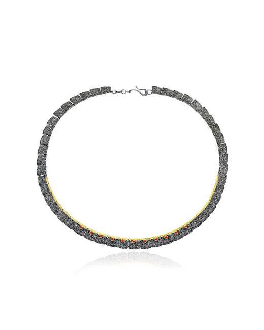 Apostolos Jewellery - Metallic The Earth Song Oxidised Silver Pendant - Lyst