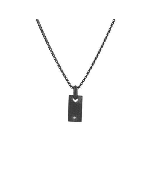 VERA VEGA - Metallic Diamond Mini Signet Necklace - Lyst