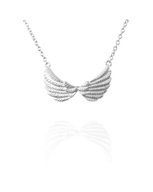 Jana Reinhardt Jewellery   Multicolor Silver Tiny Double Wing Necklace   Lyst