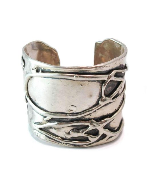 Private Opening | Metallic Large Byzantine Oxidized Silver Cuff | Lyst