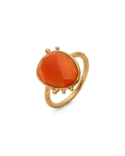 Donatella Balsamo - Orange Amazonia Red Ring - Lyst