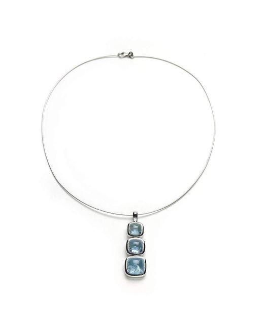 Julia Lloyd George - Metallic Aquamarine And White Gold Necklace - Lyst