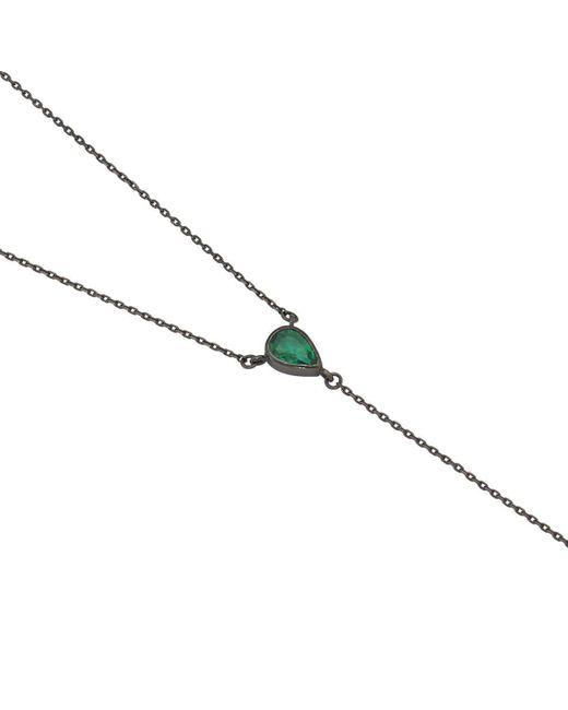 YRYS - Blue Emerald Tie Necklace - Lyst