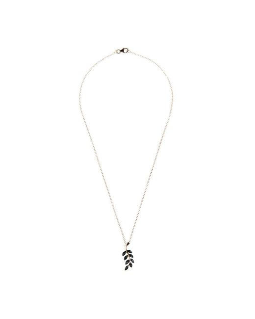 Latelita London Diamond Leaf Necklace Rose gold DNTHIt5