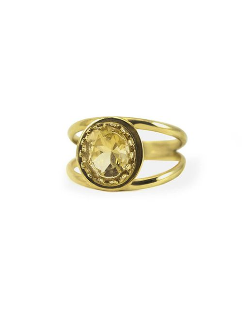 Vintouch Italy - Metallic Luccichio Citrine Dual Ring - Lyst
