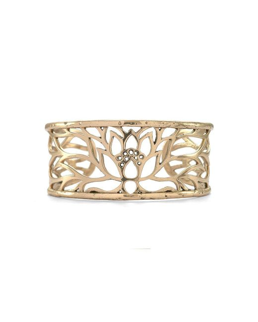 House of Alaia - Metallic Lotus Cuff Bracelet In Bronze - Lyst