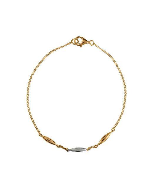 Vurchoo - Metallic Hun Pitou Yellow Gold And Silver Rice Bracelet - Lyst