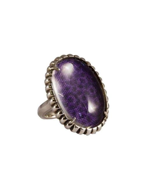 Luke Goldsmith | Silver Womens Material Girl Ring Purple | Lyst