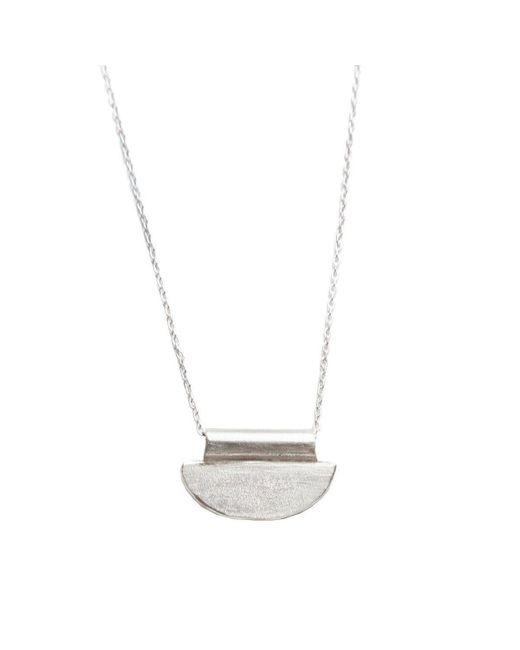 Sweet Hyena - Metallic Luna Mini Silver Necklace - Lyst