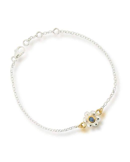 Ana Verdun | Metallic Grace Bracelet Silver Sapphire | Lyst