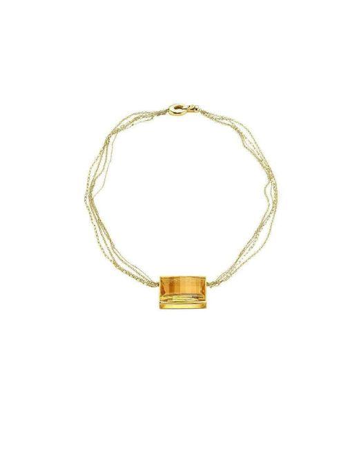 Sandy Leong - Metallic Luminous Large Citrine Rectangle Necklace - Lyst