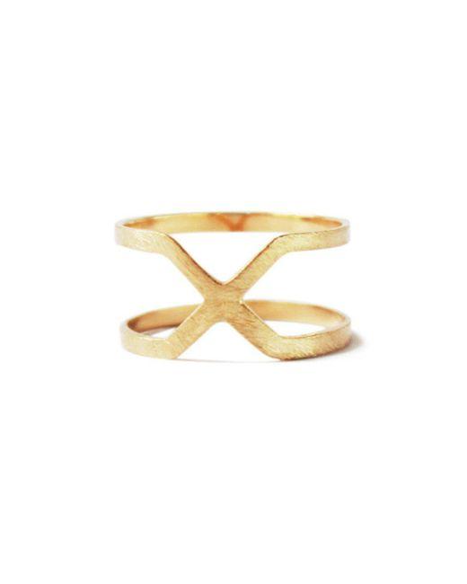 ZLABA - Metallic Contra Ring - Lyst