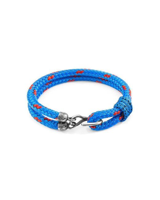 Anchor & Crew - Blue Great Yarmouth Silver And Rope Bracele - Lyst
