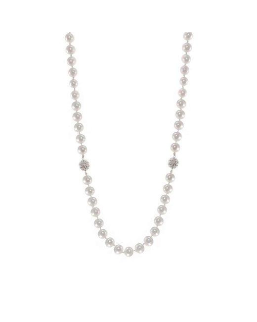 CZ by Kenneth Jay Lane | Metallic 2 In 1 Fwp Necklace Bracelet Combo | Lyst