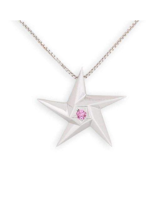 Daou Jewellery 18kt Gold & Ruby Heart of a Star Pendant - 16 GwKEat
