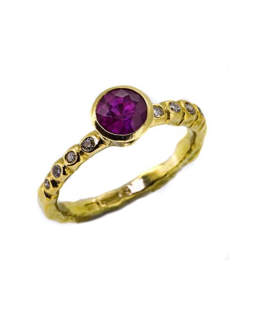 Erin Cox Jewellery - Multicolor Carved Ruby Ring - Lyst
