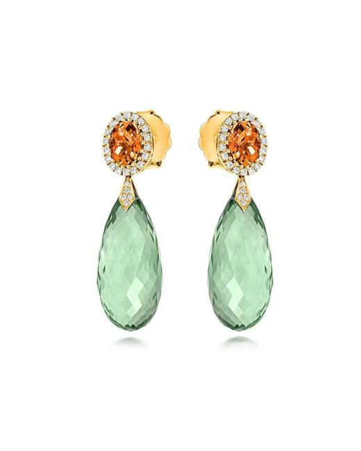 Tivon Fine Jewellery | Green Tivon Monte Carlo Earrings | Lyst