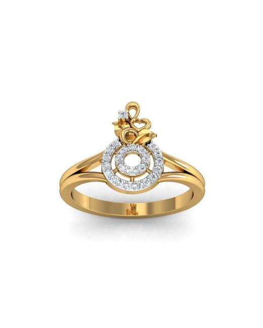 Diamoire Jewels - Metallic 18kt Yellow Gold Pave 0.24ct Diamond Infinity Ring - Lyst