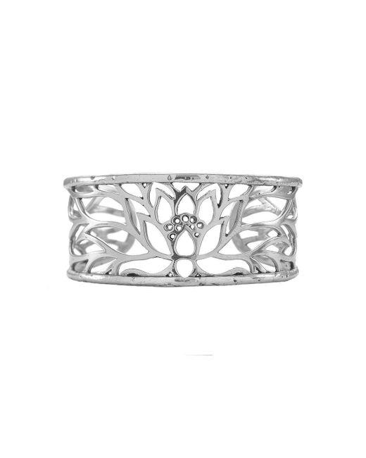 House of Alaia - Metallic Lotus Cuff Bracelet In Silver - Lyst