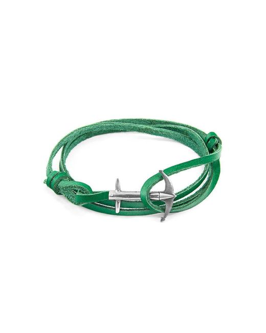 Anchor & Crew - Multicolor Fern Green Admiral Silver And Leather Bracelet - Lyst