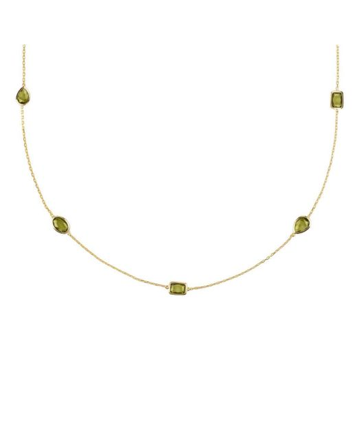 Latelita London | Metallic Venice Long Chain Necklace Gold Peridot | Lyst