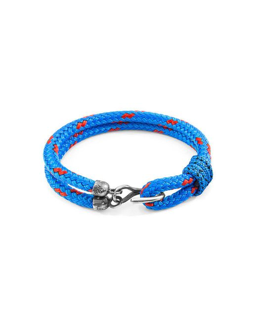 Anchor & Crew | Blue Great Yarmouth Silver And Rope Bracele for Men | Lyst
