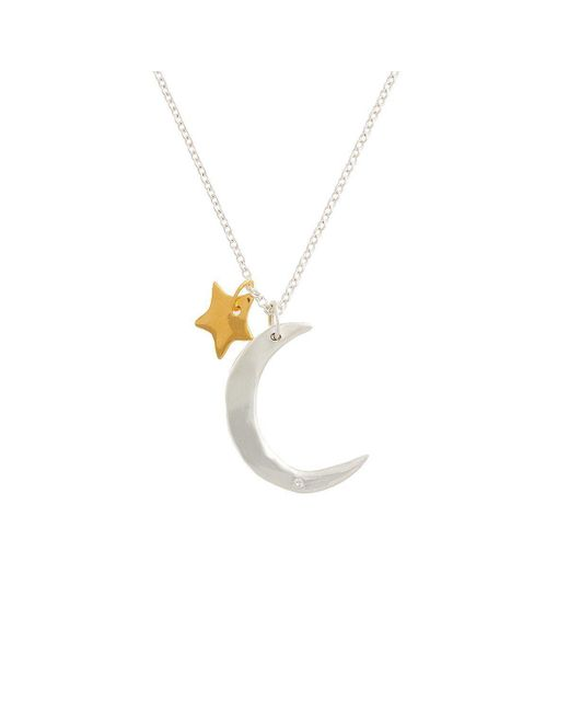Deborah Blyth Jewellery - Metallic Moon And Star Necklace - Lyst