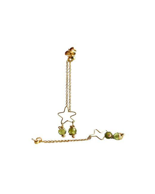 Anna Moltke-Huitfeldt - Metallic 18kt Yellow Gold Peridot Fairtrade Star Earrings - Lyst