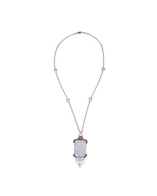 Socheec - Multicolor Double-faced Shell Cameo Necklace - Lyst