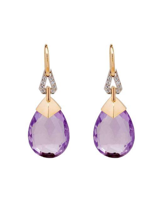 BethCarina - Multicolor Lavender Goddess Earrings - Lyst