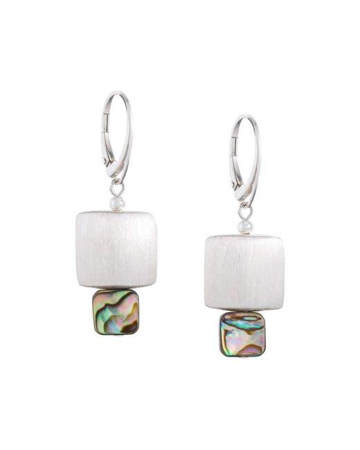 Naomi Jewelry - White Blaze 139 Earrings - Lyst