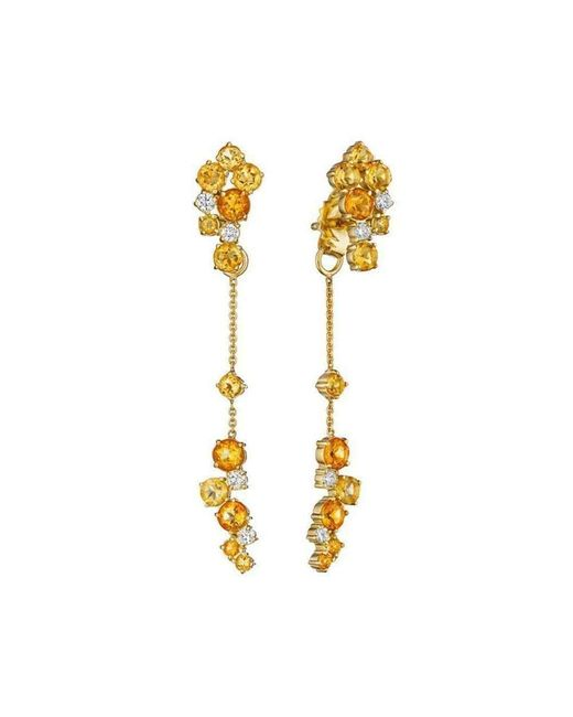 Madstone Design - Metallic Melting Ice Front And Back Citrine Earrings - Lyst